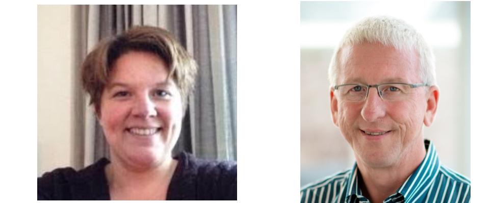 Voorzitters NVORWO Jenneken van der Mark en Kees Hoogland